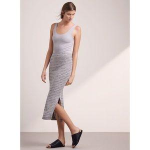ARITZIA WILFRED Free Verushka Midi Skirt with Slit